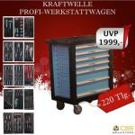 PROFI - WERKSTATTWAGEN 220 teilig in 7 Ebenen mit Werkzeug Fahrbar KRAFTWELLE